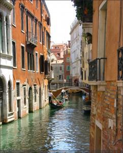 Venedig Gondel Brücke